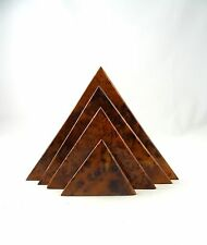 RARE ORIGINAL FRENCH ART DECO LETTER STAND PYRAMID BIRD EYE MAPLE ANTIQUE
