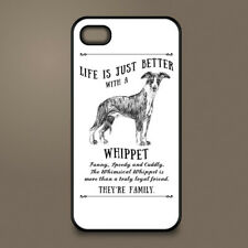 Whippet dog phone case cover Apple iPhone Samsung Galaxy ~ Personalised