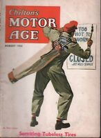Chilton's Motor Age August 1954 Servicing Tubeless Tires 100218ame
