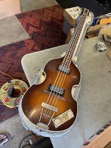 1965-66 Höfner 500/1 Violin T-Burst Beatle Vintage Hofner Bass w/ Case