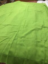 "Vera Tablecloth Kelly Green Linen Blend Rectangle 60"" x 49"" Table Linens Vintage"