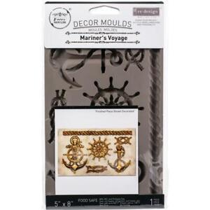 "Prima MARINER'S VOYAGE Re-design Decor Silicone Moulds 5x8"" Food Safe #644871"