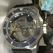 Invicta Russian Diver Ghost Automatic Skeletonized Dial Silicone Strap Watch