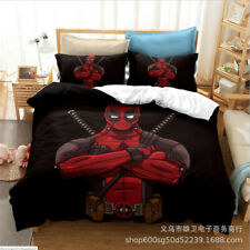 Deadpool Quilt Cover 3PCS Bedding Set Duvet Cover Pillowcase Comforter Cover