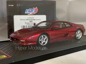 BBR Models 1/43 FERRARI 355 GTB BERLINETTA 1994 RED MET. Art. CAR62A