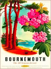 Bournemouth England British Railways Vintage Great Britain Travel Poster Print