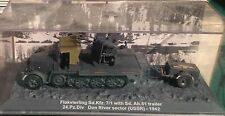 DIE CAST TANK 1/72 - FLAKVIERLING SD.KFZ. 7/1 WITH Sd.Ah. 51 trailer