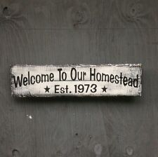Handmade Wood sign Homestead Primitive Rustic Country Home Decor