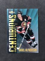 1998-99 TOPPS FINEST DANIEL ALFREDSSON CENTURIONS C-19 #ed 55/500
