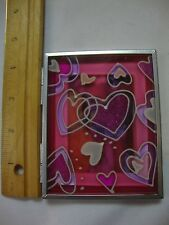 """NEW FLOMO 2"""" x 3"""" Picture Photo Frame Photos Unlimited Open Stand Up Hearts"""