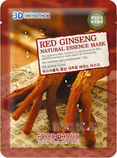 2 X 3D FoodAHolic Super food  Red Ginseng Natural Essence faceMask  anti ageing