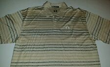 Tiger Woods PGA Championship Golf Shirt XXL Nike Cream Tan Black