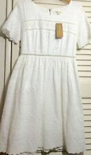 Francesca's White Eyelet Dress with Embroidered Detail
