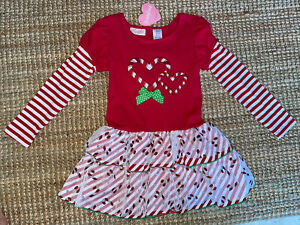 NEW Christmas Dress Size 6 Girl's Candy Cane Youngland