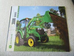 John Deere 3005 3320 3520 3720 3032E 3038E 3000 series tractor brochure 16 pages