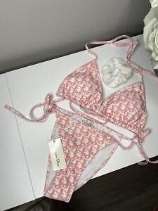 Pink Dior Monogram Bikini Full Set Size SMALL
