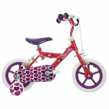 """Huffy Girls Bike Kids Bicycle 12"""" Inch Wheels Steel Frame Chainguard Stabilisers"""