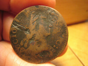 1785 Connecticut African Head Colonial Copper Coin - Miller 4.1-F.4 - Rare Piece
