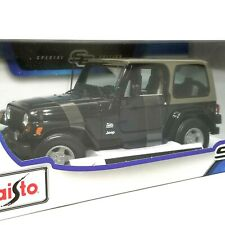 Maisto Jeep Wrangler Sahara 1:18 scale NEW Black