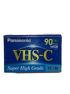 Panasonic VHS-C Super High Grade Tape TC-30 90 Minutes (1 Pack) Sealed!