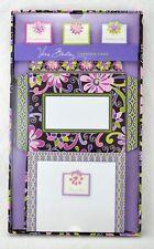 VERA BRADLEY Purple Punch Create a Card Stationery 8 Self Mailers & Greeting NIP