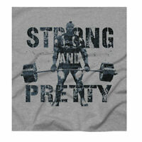 Strong and Pretty Strength Powerlifting Strongman Grey T-Shirt Free UK Delivery