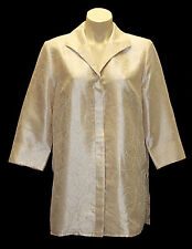 "New ""MONTI"" Women Size 10 Shimmer Party Formal Blouse Tops Shirts Jackets Cream"