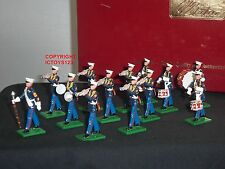 BRITAINS 17780 US MARINE CORPS DRUM + BUGLE BAND METAL TOY SOLDIER FIGURE SET