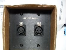 Panel Crafters 2 XLR Female Inptus on a double gang plate AVSOL-WQ141519