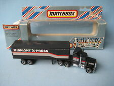Lesney Matchbox Convoy Kenworth Box Truck Midnight X Press Boxed England