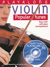 Playalong Violin Popular Tunes Music Pop Songs Book CD