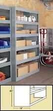 "High-Capacity Shelving for Step Vans & High Roof Vans 39""Wx18""D by American Van"