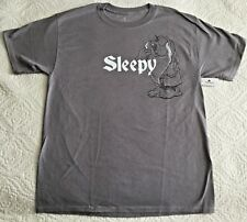 DISNEY Parks Snow White & 7 Dwarfs SLEEPY Gray T-Shirt Size Medium - NWT