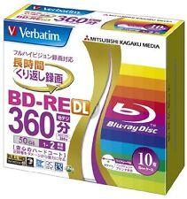 10 Verbatim Bluray 50GB 2x Blank Rewritable Bluray Printable BD-RE DL Repacked