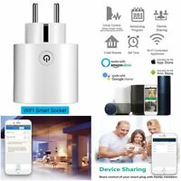 Wifi Smart EU Plug Power Socket Outlet APP For Amazon Alexa Echo Google White