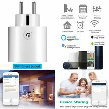 Wifi Smart EU Plug Power Socket Outlet APP For Amazon Alexa Echo Google White