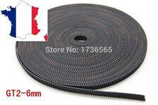 Courroie GT2 largeur 6 mm pas de 2mm au mètre pour imprimante 3d, Anet A8, prusa