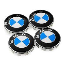Tapones de rueda para BMW 68MM 4PCS 4X azul/blanco conjunto de reemplazo de estilo tipo 4PCS