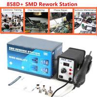 858D+ SMD Rework Fer à Souder Station de Soudage Air Chaud Soudure 700W+3 Nozzle