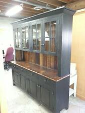"""AMISH BUILT RECLAIMED BARN WOOD HUTCH,CHINA CABINET - 72""""x78"""" - PINE -UNFINISHED"""