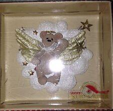 VTG Kurt S Adler Holly Bearies Christmas Bear Angel Ornament New In Box