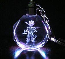 Dragon Ball Dragonball Z Super Saiyajin Son Goku Crystal Key Chain LED Pendant