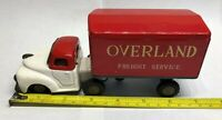 """Tin Litho """"Overland Freight """" Friction Truck & Trailer Friction  Japan"""
