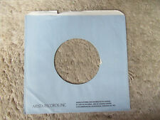 sleeve only ARISTA BLUE CANADA    45 record company sleeve only    45
