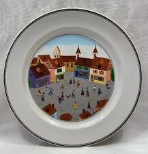 "Villeroy & Boch Design Naif Old Village Square 10-1/2"" Dinner Plate"
