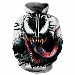 Hoodie 3D Print Sweatshirt Hooded Pullover Coat Men Casual Jacket Sweater