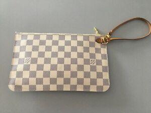 Louis Vuitton , Neverfull Clutch - Damier Azur Canvas❗️TOP ❗️