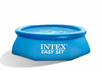 "Intex 8' x 30"" Easy Set Inflatable Above Ground Family Summer Swimming Pool"