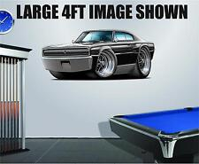 1966 Dodg Charger 426 HEMI 4ft Long Wall Graphic Decal Sticker Man Cave Decor