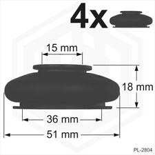 4 x UNIVERSAL Rubber Tie Rod End Ball Joint Dust Boots Dust Cover Boot Gaiters